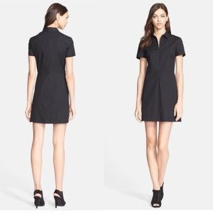 Theory Torma Palatial Dress in Navy Blue